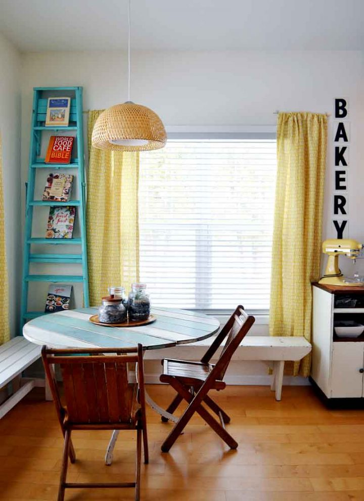 Tiny home tour-kitchen nook.
