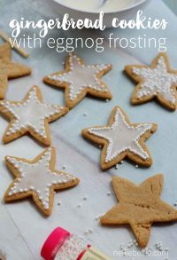 Gingerbread cookies with eggnog icing