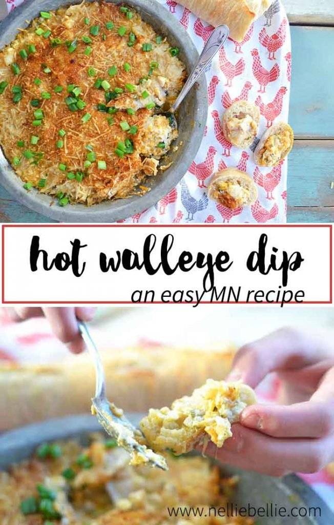 A Minnesota recipe... this hot walleye dip is cheesy, gooey, and delicious! A great appetizer for the big game or your next party. No walleye? Sub your favorite white fish, instead.
