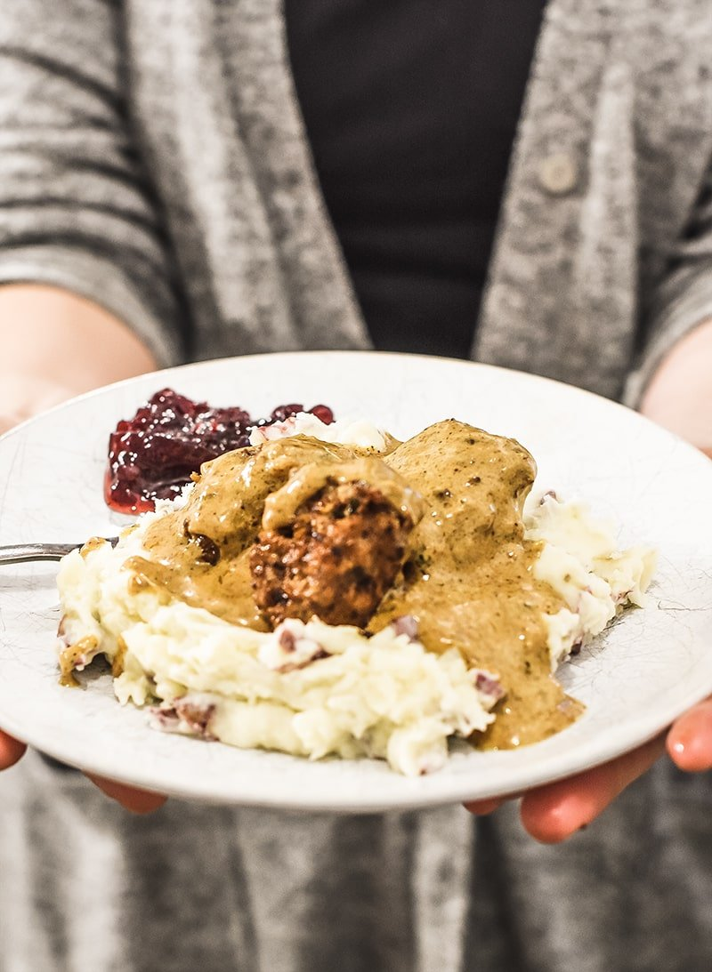 Swedish meatballs. Traditional recipe with oats instead of bread to make this a gluten-free recipe.