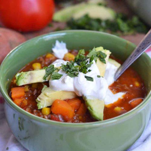 One Pot Sweet Potato Chili Recipe