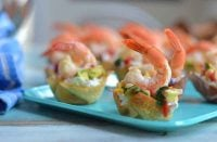 Wonton Shrimp Tacos