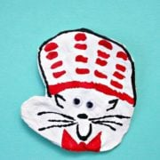 Turn your child's handprint into a Cat in the Hat with this fun and easy clay craft. A great activity for Dr. Seuss' birthday.