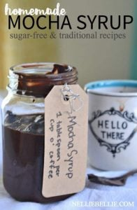 Make your own cafe mocha syrup