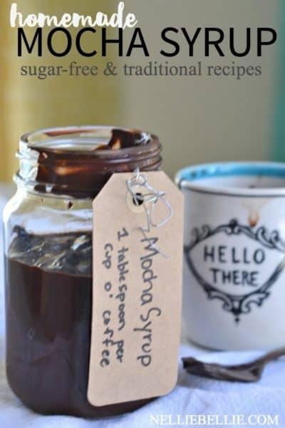 Homemade cafe mocha syrup recipe