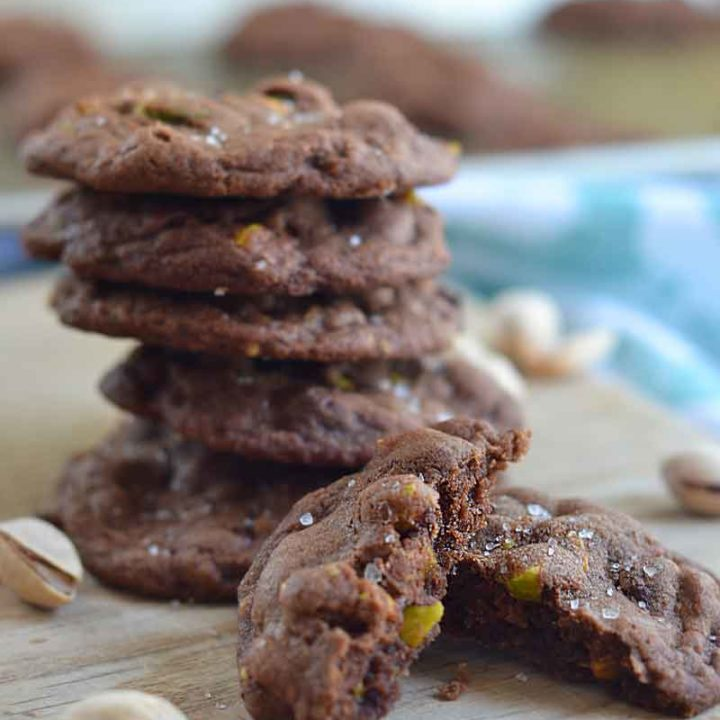 Salted Chocolate Pistachio Cookies