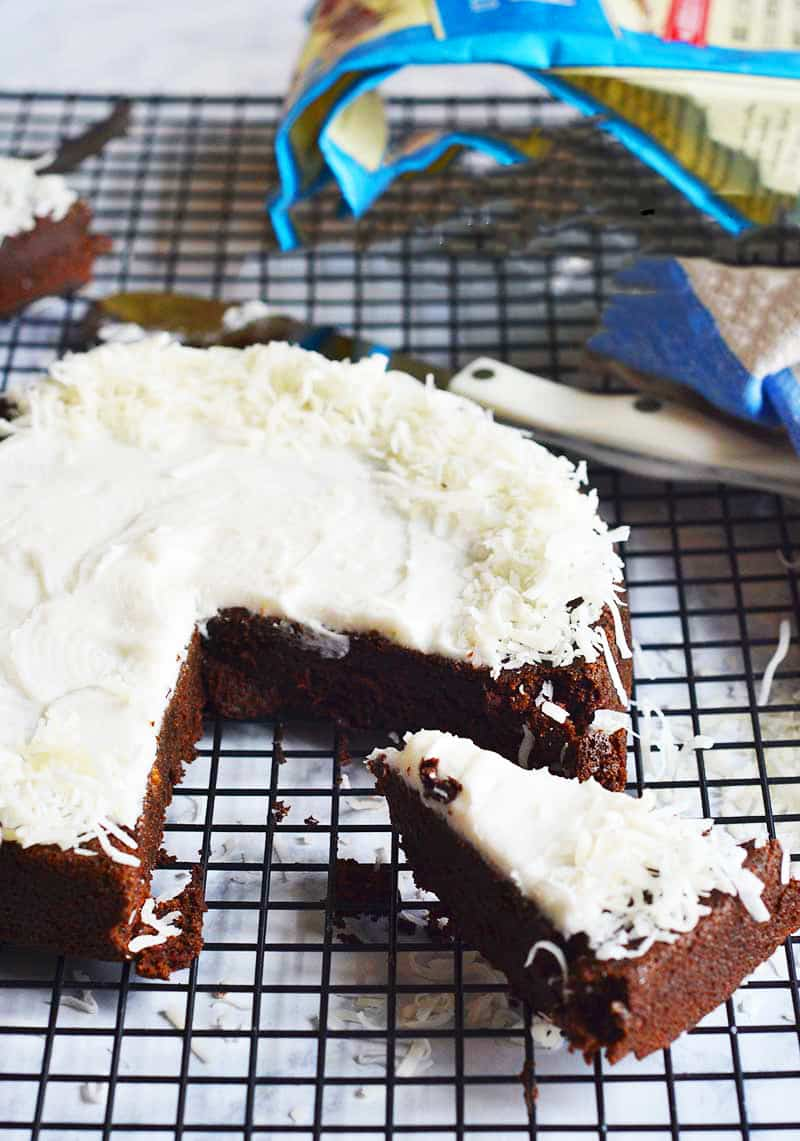 Chocolate beet cake with coconut mik buttercream