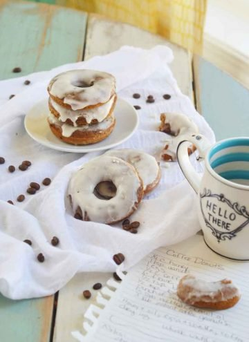Baked Coffee Cake Donuts {with Whiskey Frosting}