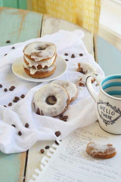 Coffee Donuts with Whiskey Icing