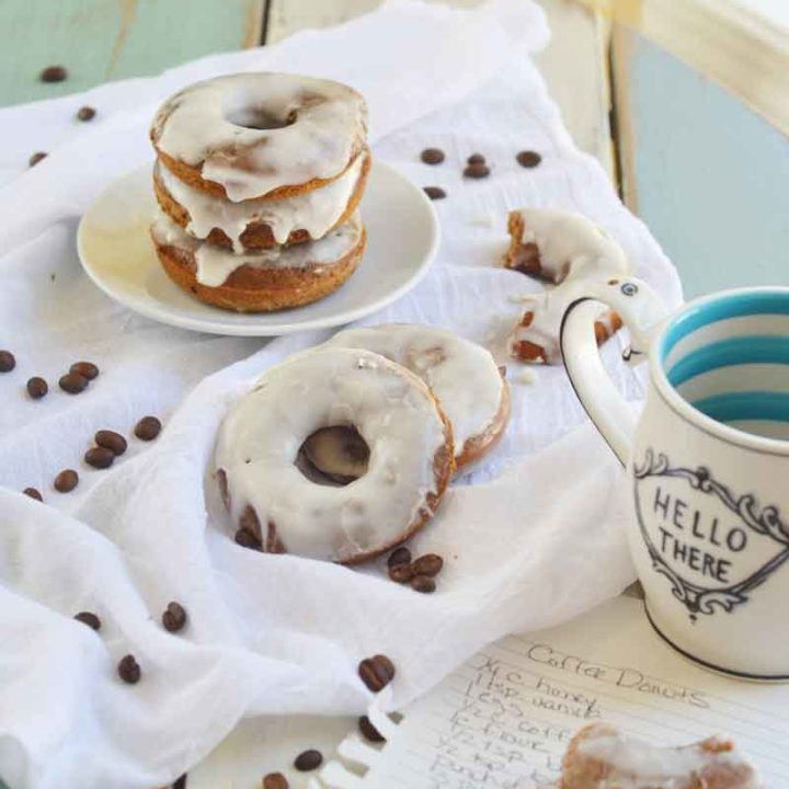 Coffee Donuts with whiskey icing are easy to make, full of yummy flavor, and the absolute best thing on a weekend morning!