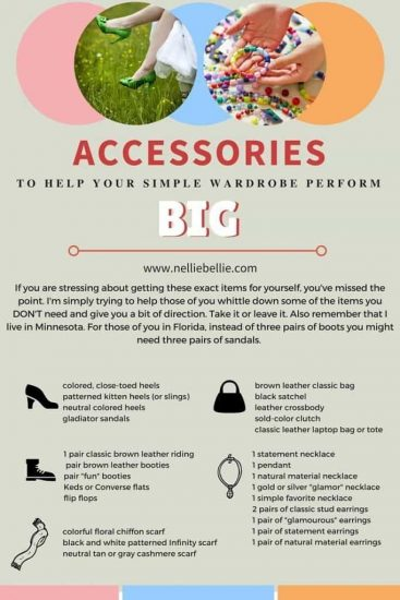Accessories to help your capsule wardrobe perform BIG!