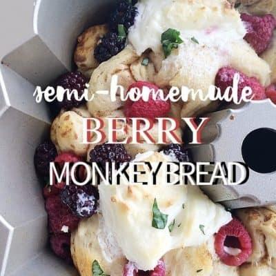 Semi-homemade Berry Monkey Bread