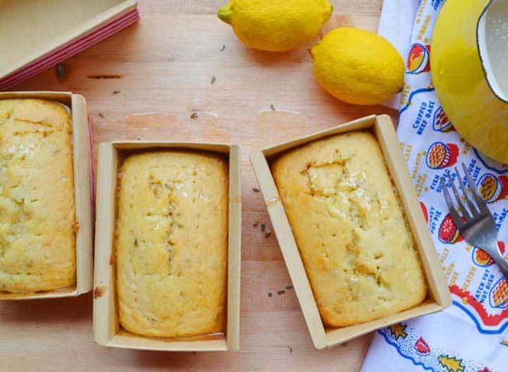 easy Lavender and Lemon Quick Bread