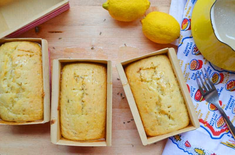 Lavender and lemon are paired together to make an absolutely delightful lemon quick bread that you will have in the oven in under 20 minutes! Easy and delightful lavender quick bread recipe.
