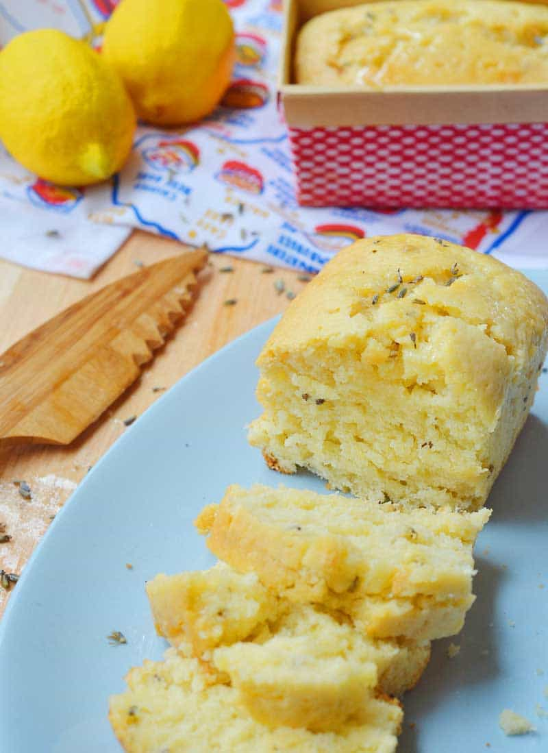 Lavender and lemon pair together to make an absolutely delightful lavender and lemon quick bread.