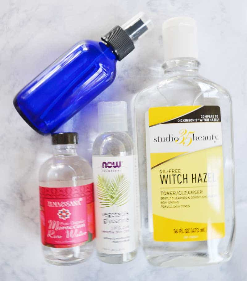 DIY setting spray for makeup with rosewater : homemade setting spray