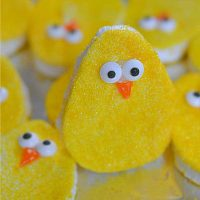 homemade Marshmallow Peep eggs
