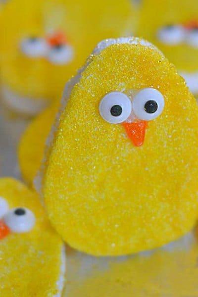 homemade Marshmallow Peep eggs