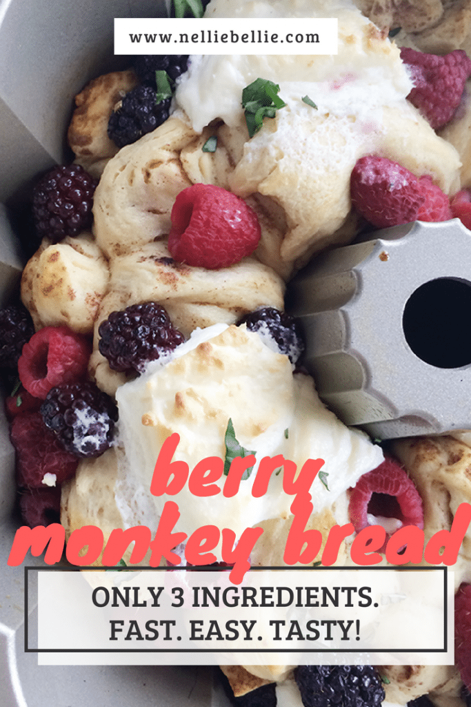 Make this delicious Berry Monkey bread with only 3 ingredients and in under 30 minutes. Great for breakfast, brunch, or a tasty treat!