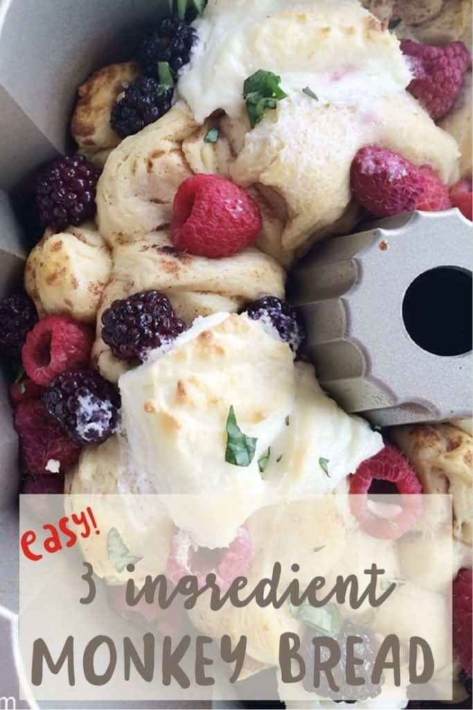 Berry Monkey bread recipe in only 3 ingredients. Easy!