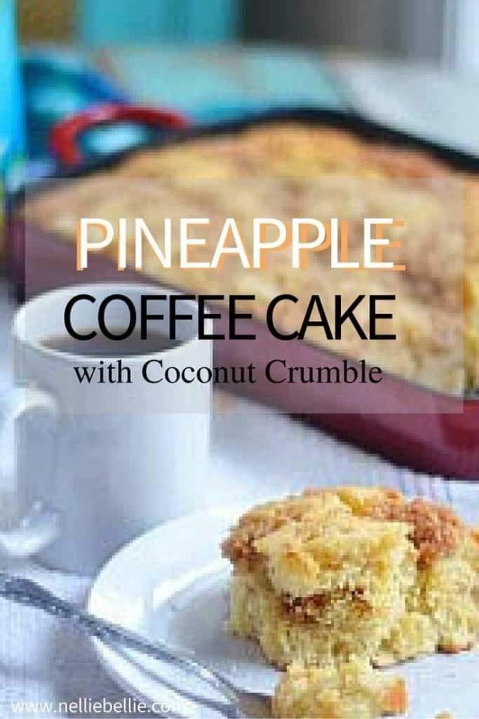 This pineapple yogurt coffee cake with coconut crumble is what you want to make, smell, and eat all weekend long! Old-fashioned recipe updated with yogurt, pineapple, and a yummy coconut crumble.