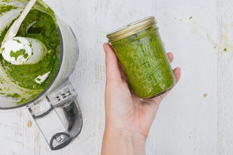 homemade spinach pesto recipe