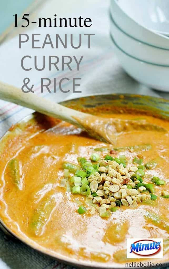 This 15-minute Peanut Curry Sauce and Rice is the go-to recipe for my home. I keep the ingredients in my pantry at all times to pull out on those evenings when you simply don't have the time and energy to think about dinner. This flavorful recipe is fast, delicious, and nutritious.