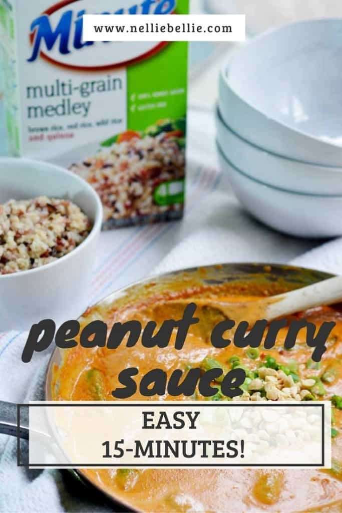 Make this delicious peanut curry sauce in only 15 minutes!