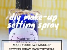 Make your own makeup setting spray with this easy tutorial.