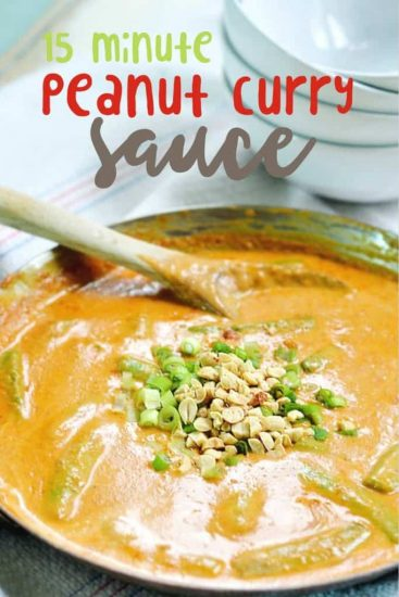 easy peanut curry sauce is ready in only 15 minutes and easy enough for even the novice cook!