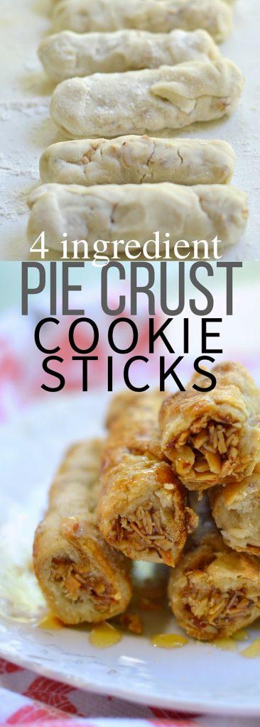 4 ingredient Pie Crust cookie recipe | Nut pie crust cookies