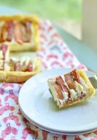 really simple rustic Rhubarb Marscapone Tart