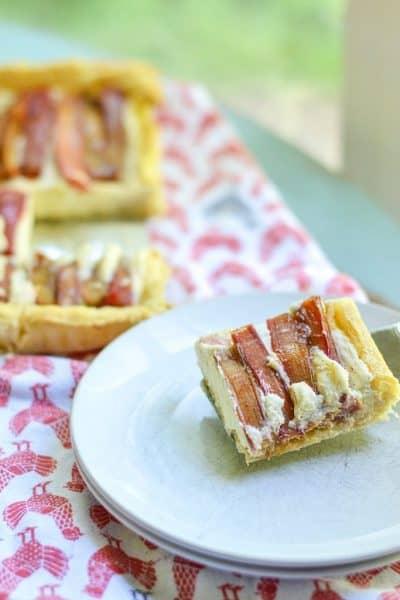 easy rustic Rhubarb Marscapone Tart
