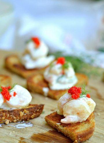 Swedish Toast Skagen (Shrimp Toast)
