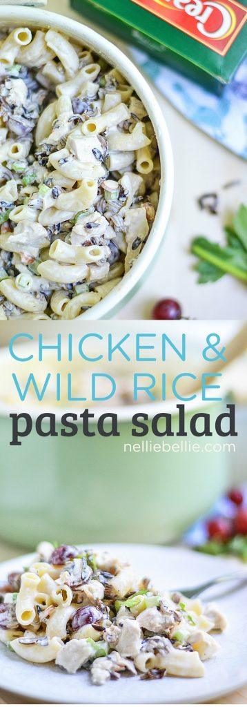 This Chicken Wild Rice Pasta Salad stays true to the traditional chicken and wild rice salads...with an improvement of delicious pasta and the ease of canned wild rice. It is creamy, bright, earthy, and satisfying. You'll want to bring this to your next potluck!