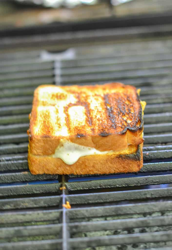 Grilled grilled cheese...as in, a cheese sandwich that you put on your grill and turn into a grilled cheese outside. Brilliant!