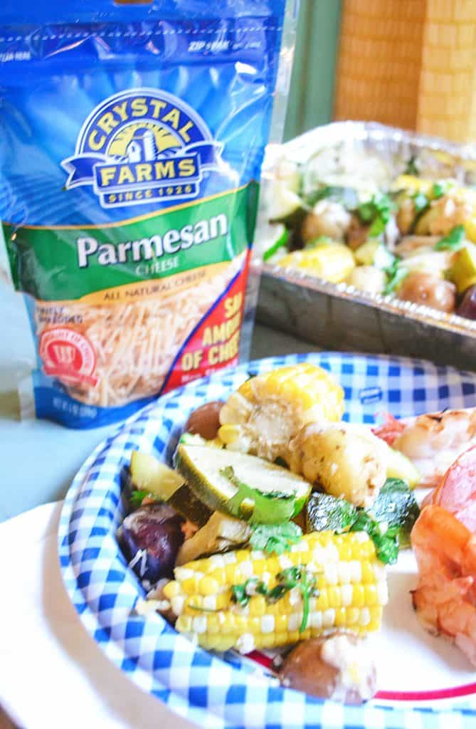 These grilled vegetables are easy to make, serve a crowd, and with the combo of Parmesan and Cajun...absolutely delectable!