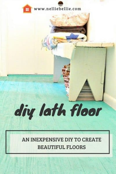 an inexpensive diy flooring idea. The lath floor is beautiful and cheap to diy.