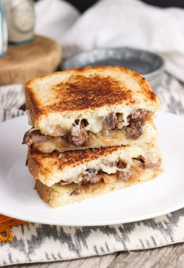 philly-cheesesteak-panini-simple comfort food
