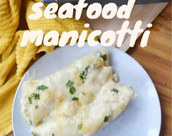 Delicious and creamy seafood manicotti. You'll want to eat this again and again!