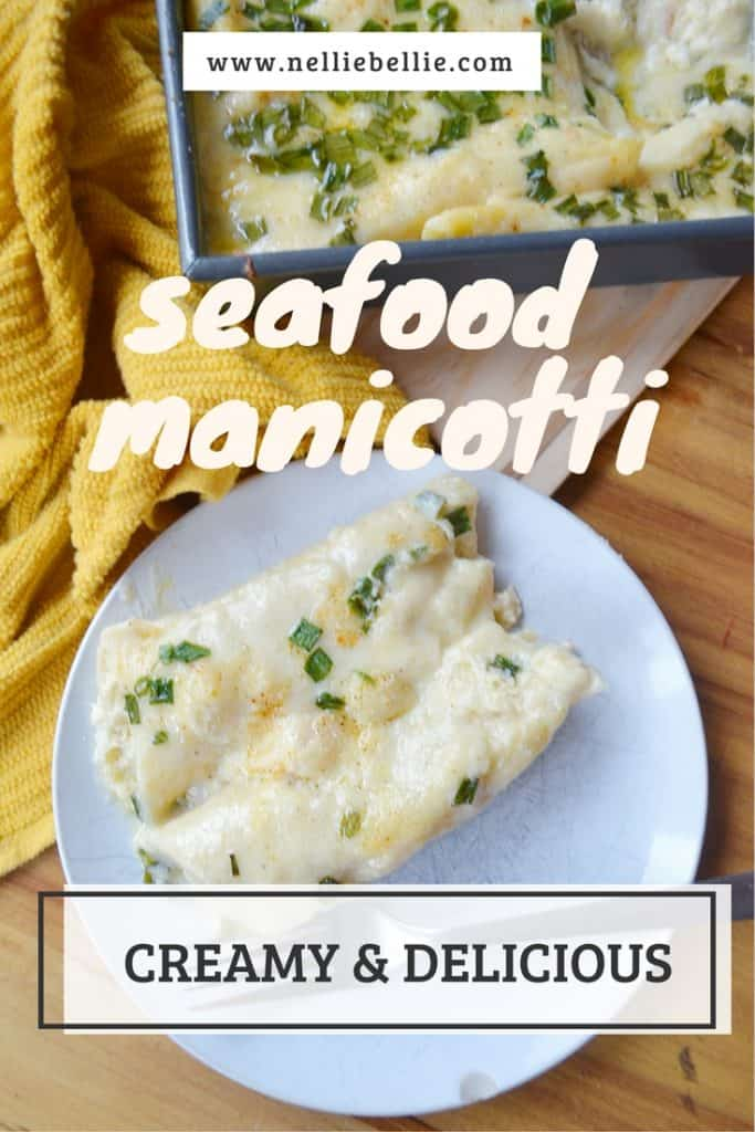 Seafood Manicotti Recipe | one of the NellieBellie recipes