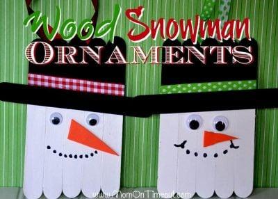 DIY popsicle snowman ornaments