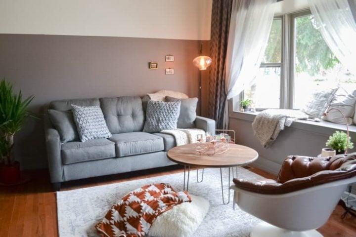 living room makeover - tiny home