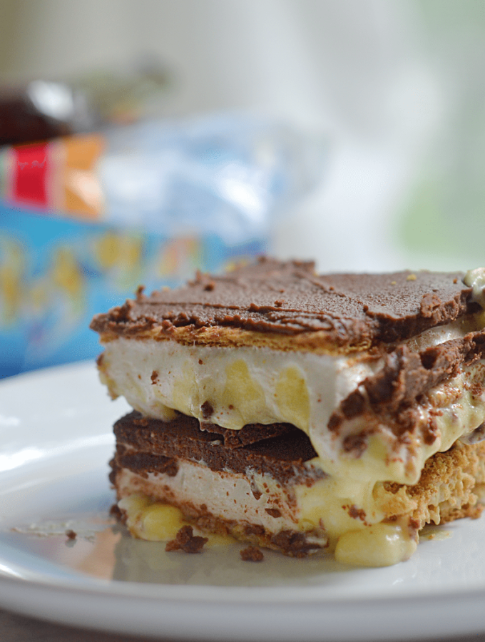 smores chocolate eclair no bake dessert bars