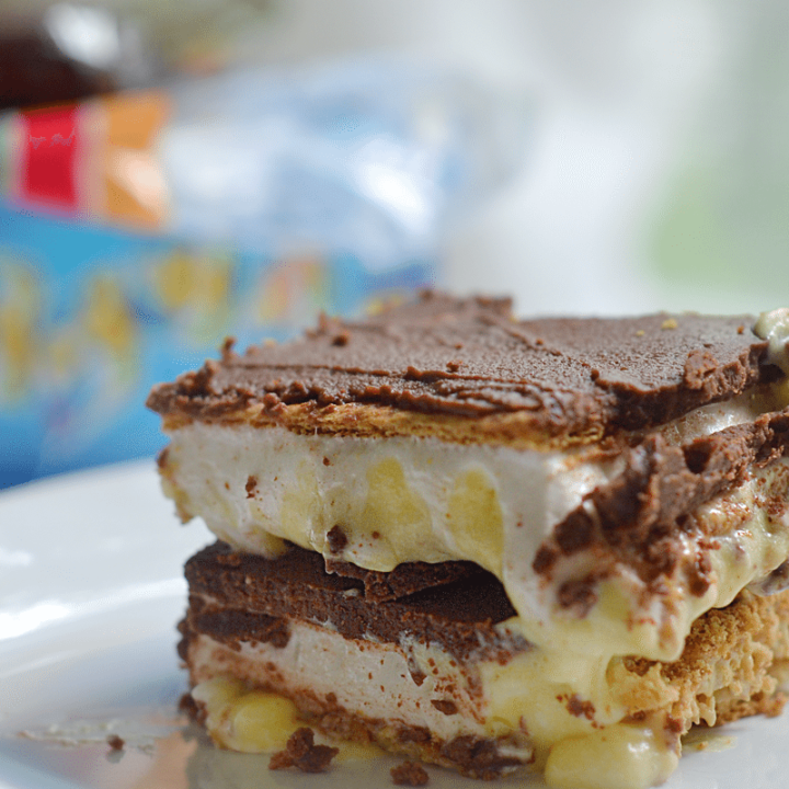 smores chocolate eclair no bake dessert bars