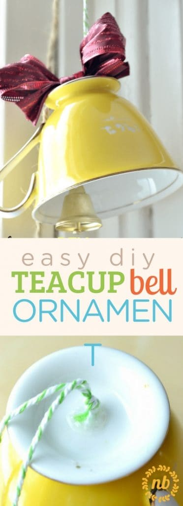teacup bell Christmas ornament