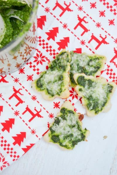 Easy Homemade Pesto Pizza Christmas Trees