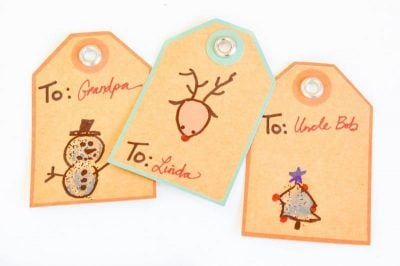 Personalized Thumbprint Christmas Gift Tags