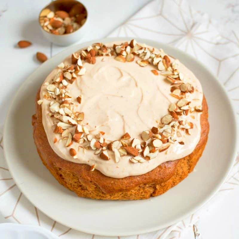 Butternut Squash Cake with Maple Syrup Cream Cheese Frosting