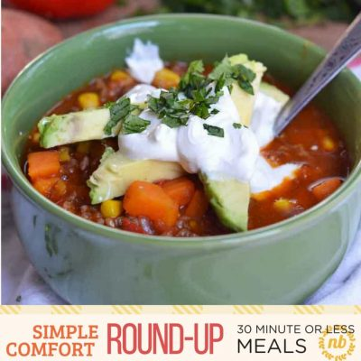 Simple Comfort Food: 30-Minute (or less) easy family meal ideas